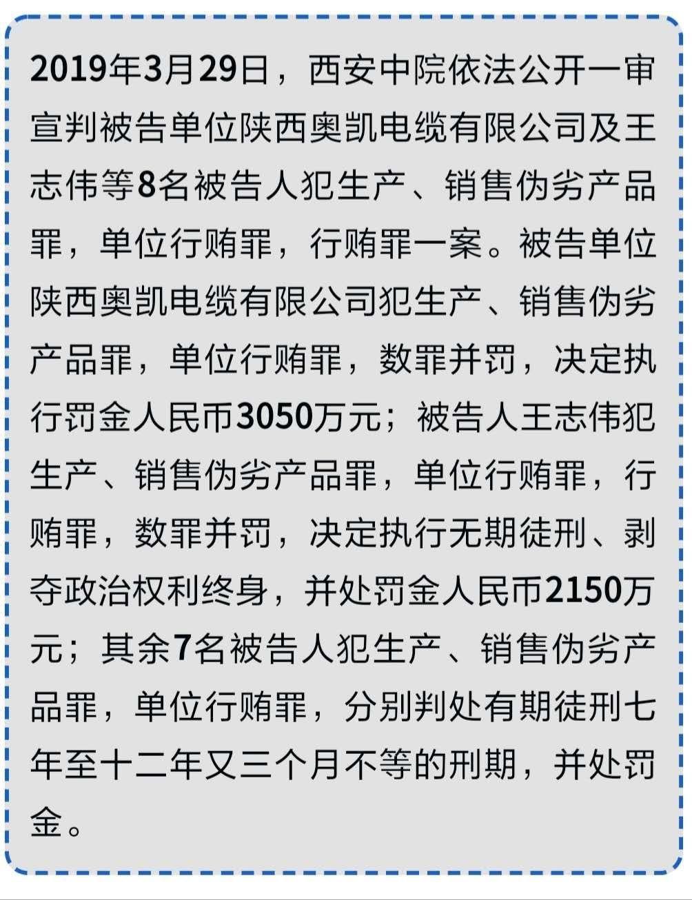 """【关注】主犯无期!西安地铁""""问题电缆""""案一审宣判"""